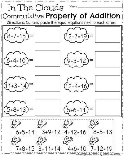 First Grade Spring Worksheets