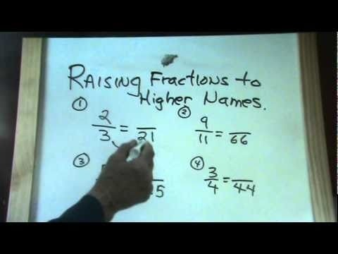 Fractions Part  Raising Fractions To Higher Terms