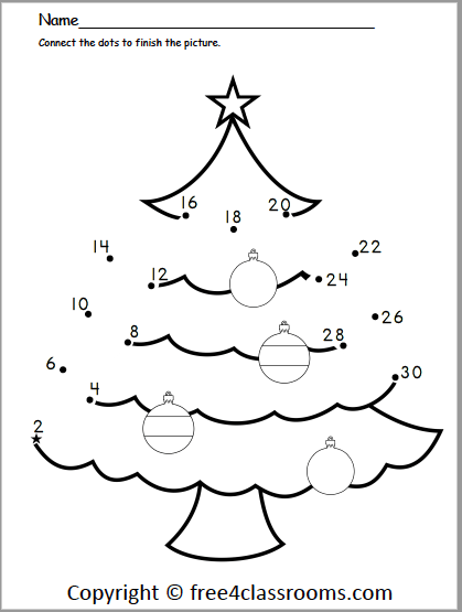 Free Christmas Counting By S Dot To Dot