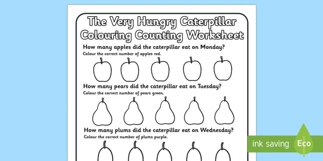 Free Colouring Counting Worksheet To Support Teaching On The Very