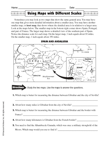 Free Map Scale Lesson Plans Worksheets Reviewed By Teachers Th