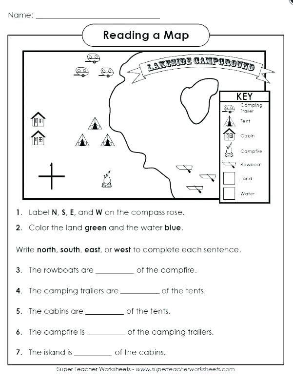 Free Map Skills Worksheets Christmas Reading Comprehension