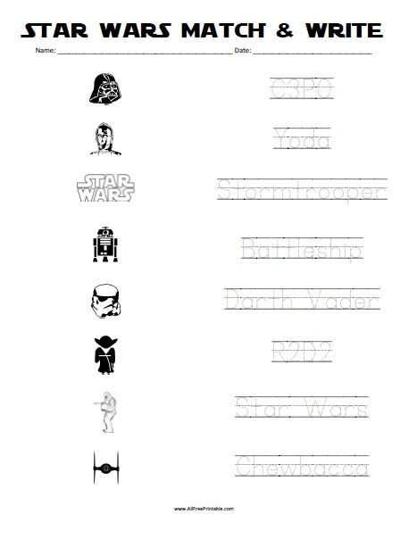 Free Printable Star Wars Worksheets Worksheets Th Grade Math