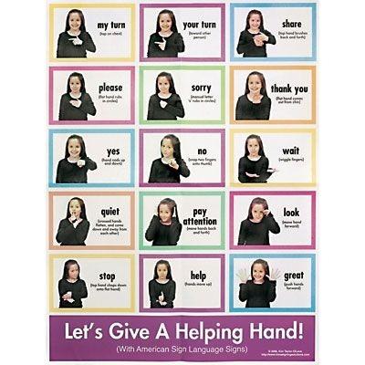 Free Sign Language Worksheets