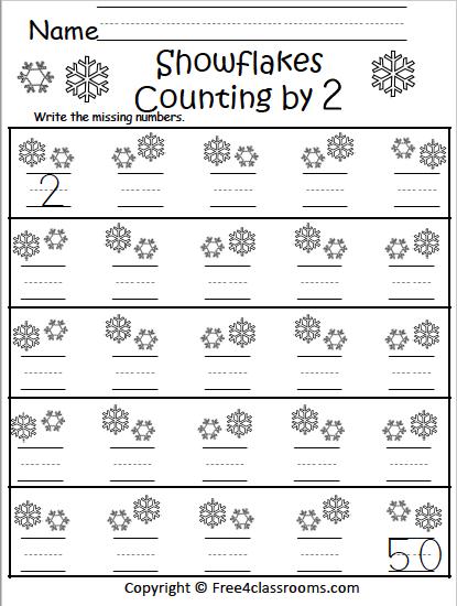 Free Winter Math Worksheets