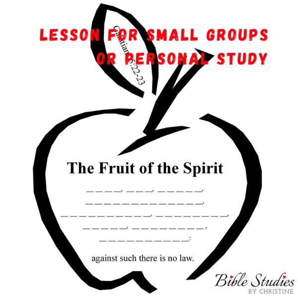 Fruit Of The Spirit Lesson For Kids   Teens