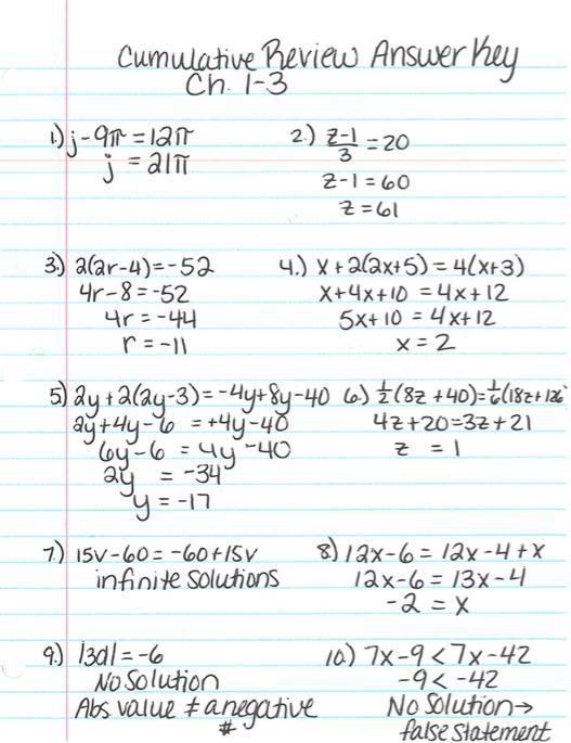 Grade  Math With Ms Eringis  Answer Key
