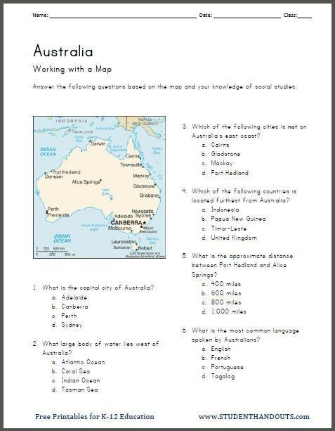 History Worksheets Th Grade Free Printable