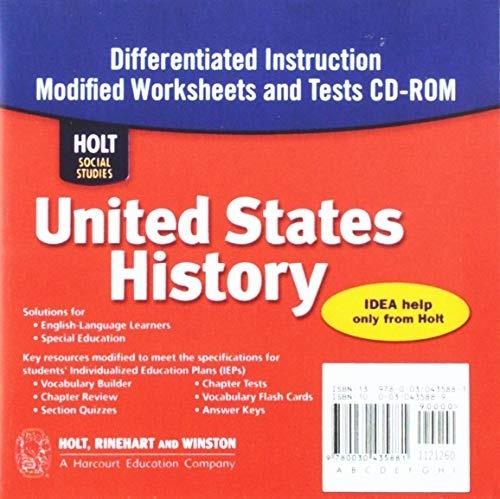Holt Social Studies United States History