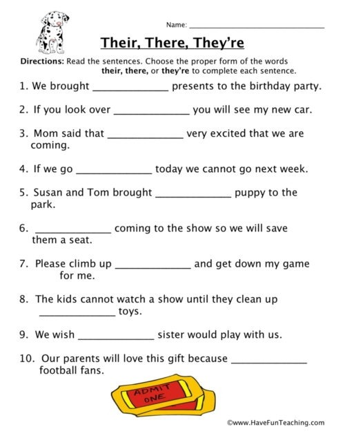 Homophones Worksheets Have Fun Teaching English Grade Worksheet