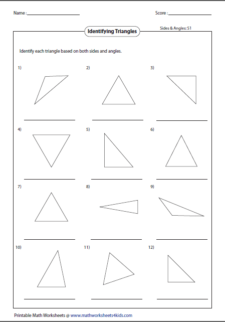 Identifying Types Of Triangles