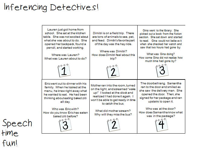 Inferencing Detectives Fun