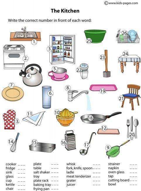 Kitchen Safety Worksheet
