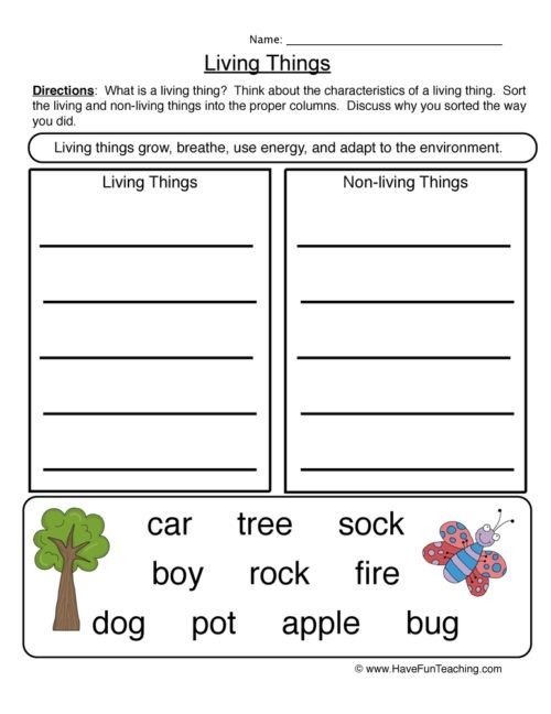 Living And Non Things Worksheets Have Fun Teaching Science