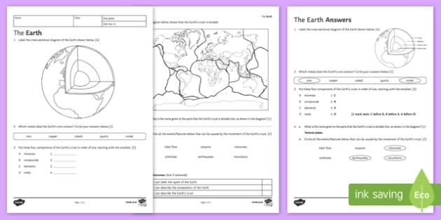 Math Words For Kids Science Plate Tectonics Worksheets Free
