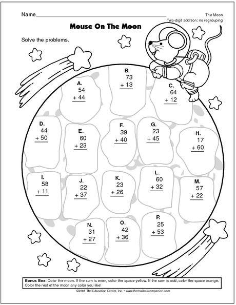 Math Worksheet Two