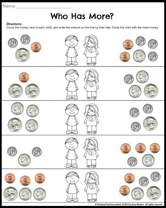 Money Worksheets For Nd Grade