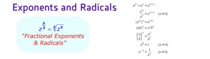 Mth  Exponents And Radicals
