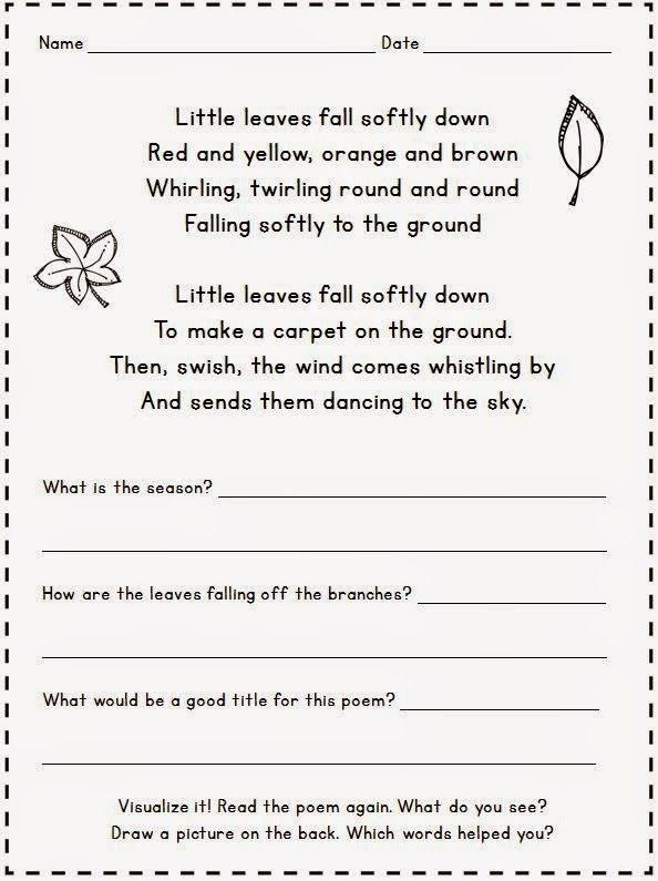 Positively Learning  For Friday   Fall Poetry Freebie
