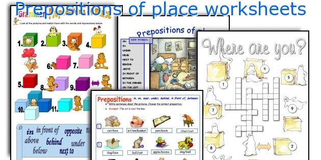 Printable Graph Paper English Prepositions Of Place Exercises