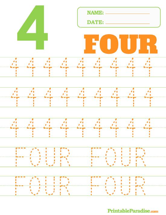 Printable Number  Tracing Worksheet