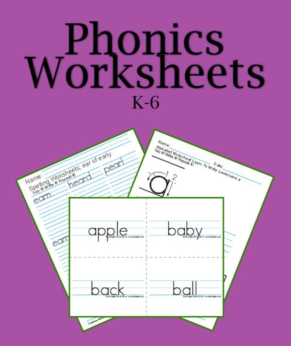 Printable Phonics Worksheets  Pdf Teaching Phonics Activities