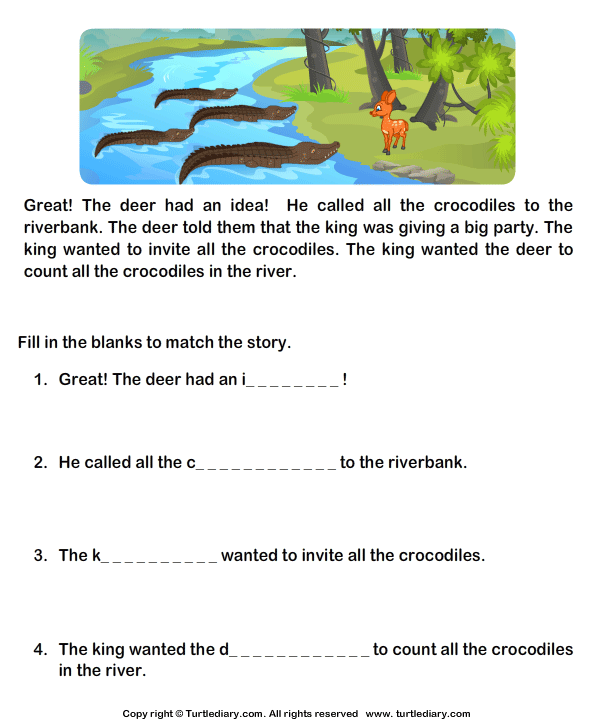 Read Comprehension Deer And Crocodiles And Answer The Questions