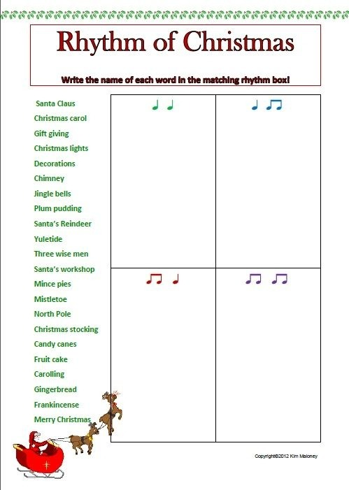 Rhythm  Rhythm Worksheets Set