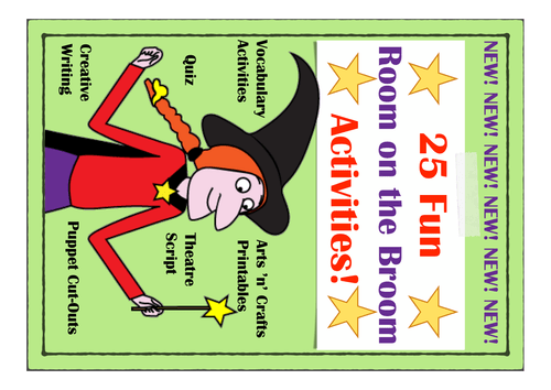 Room On The Broom Inspired Activity And Worksheet Pack