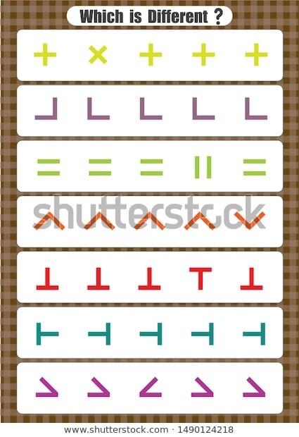 Same Different Worksheet Sorting Kindergarten Opposites Stock