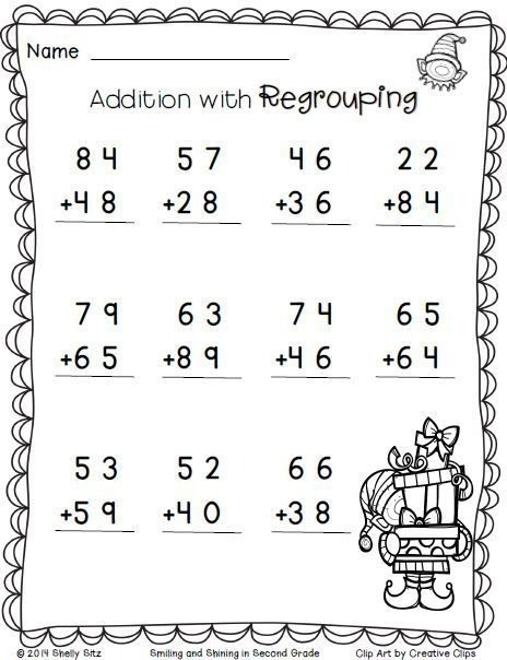 Free Math Worksheets For 2nd Grade Addition With ...