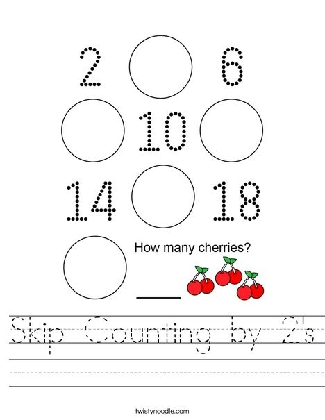 Skip Counting By S Worksheet