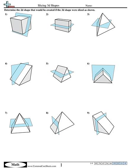 Slicing D Shapes Worksheet