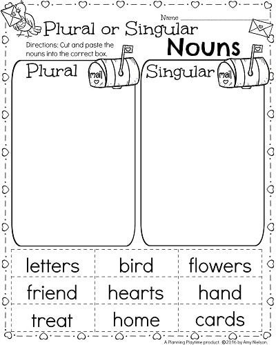 St Grade Math And Literacy Worksheets For February