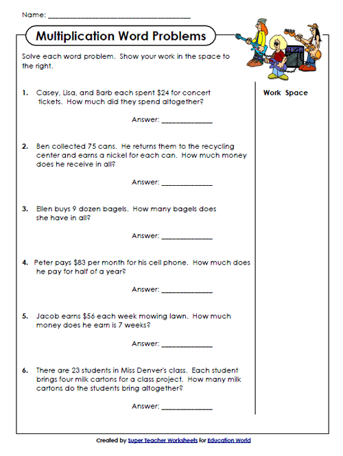Super Teachers Multiplication Worksheet