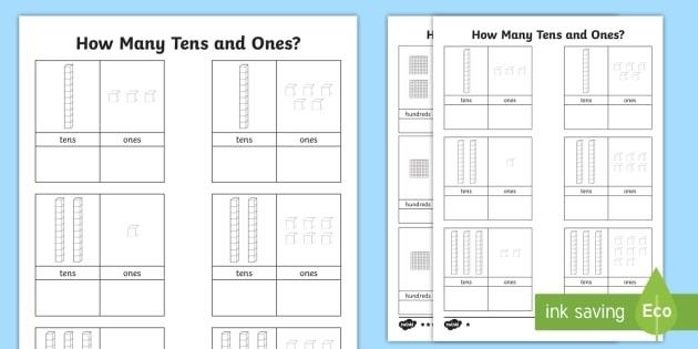 Tens And Ones Worksheet