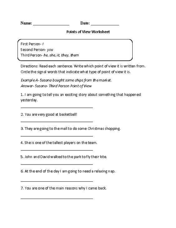 Th Grade English Worksheets English Worksheets In