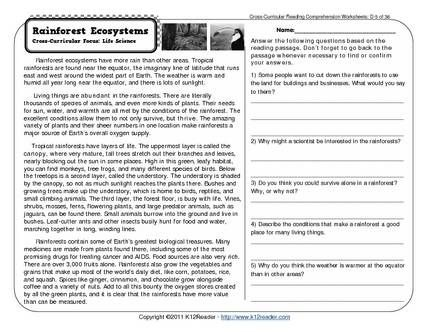 Th Grade Reading Comprehension Worksheets Free