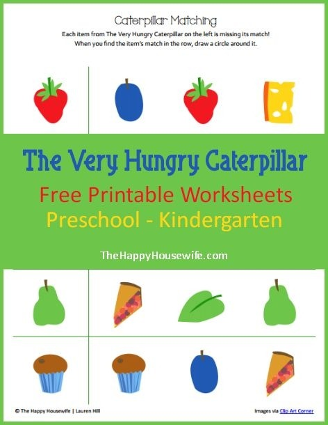 The Very Hungry Caterpillar Preschool Printable Pack
