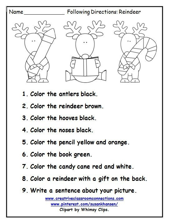 This Free Printable Is A Great December Activity For Following