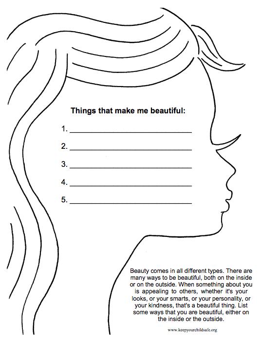 Types Of Beauty Worksheet