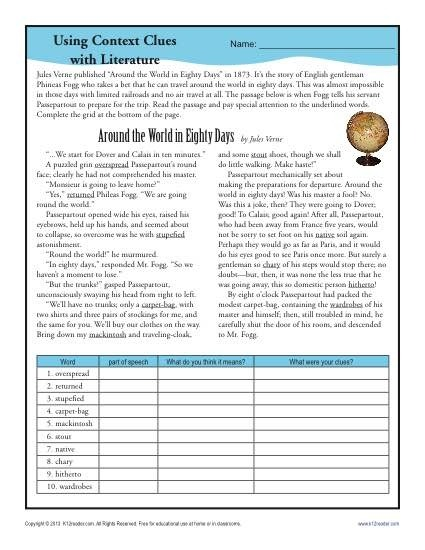 Using Context Clues With Literature