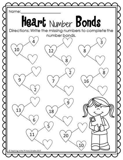 Valentine Math And Literacy Printables No Prep Valentines