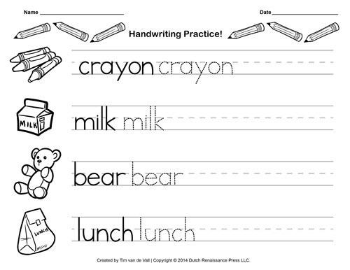 Worksheet  Free Handwriting Practices Paper For Kids Blank Pdf