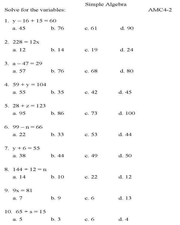 Worksheet  Free Math Practice Problems For Casa Test Printable