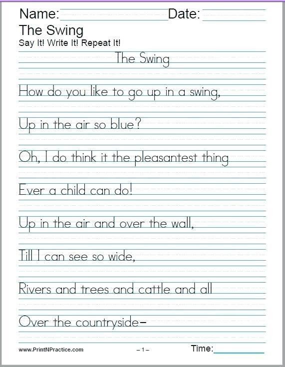 Worksheet  Handwriting Worksheets St Grade Free Reading