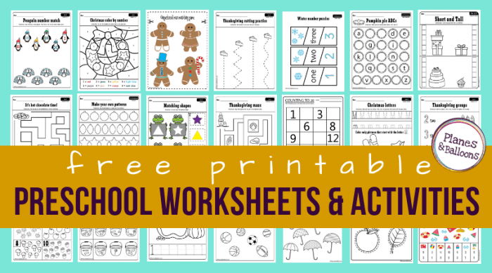 Worksheet  Preschool Worksheets Pdf Free School To Print Photo