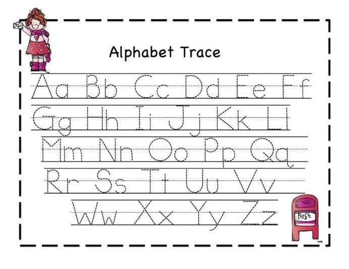 Worksheet Alphabet Tracing Worksheets Forten The Free Printable