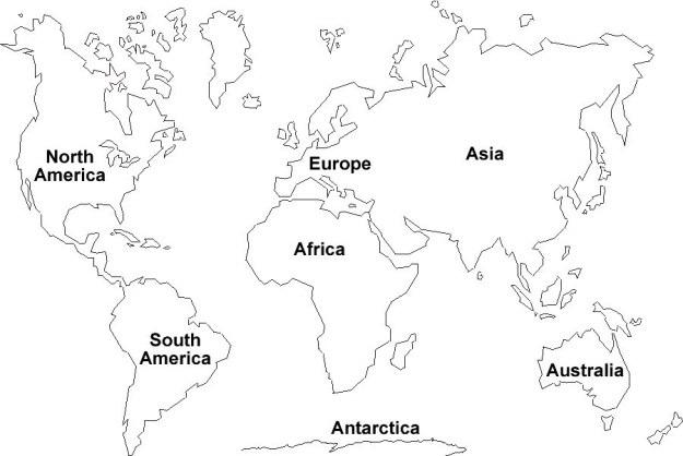 Worksheets On Continents  Mreichert Kids Worksheets