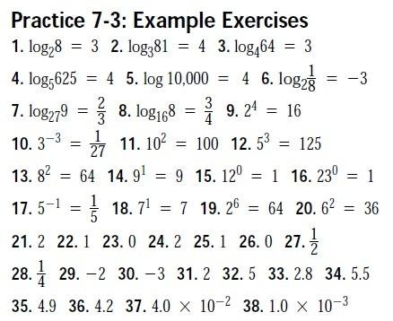 Algebra Ii  Trig Worksheet Answer Keys